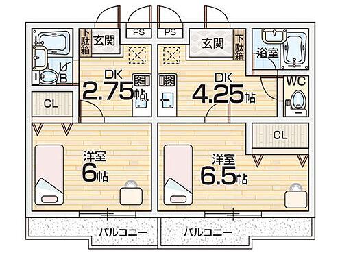 マンション(建物全部)-枚方市小倉町 間取り