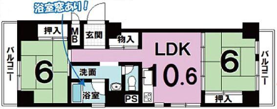 マンション(建物一部)-京都市中京区西ノ京南円町 人気の角部屋