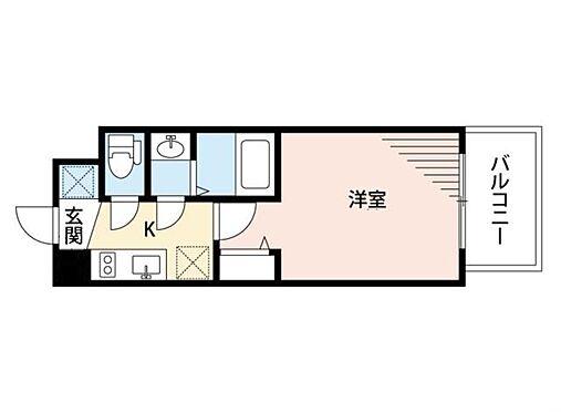 マンション(建物一部)-大阪市中央区東高麗橋 水回りをかため、生活動線に配慮された間取り