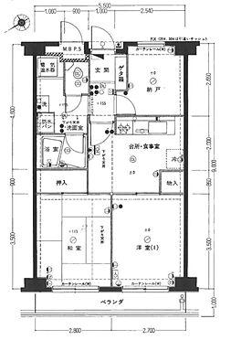 マンション(建物一部)-広島市中区国泰寺町1丁目 3DK2LDKへ間取変更(図面は、変更前3DKになります。