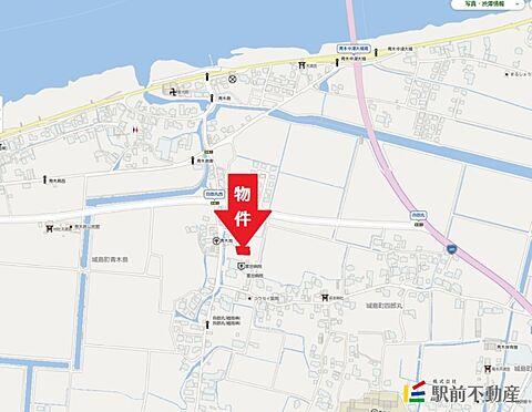アパート-久留米市城島町四郎丸 現地案内図