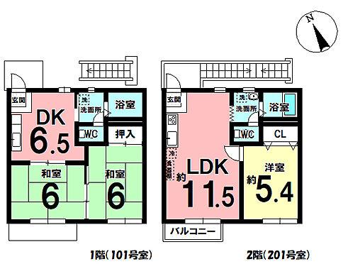 アパート-西尾市戸ケ崎3丁目 間取り