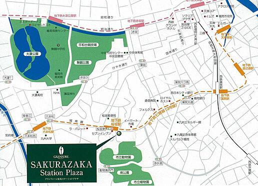 マンション(建物一部)-福岡市中央区桜坂3丁目 地図