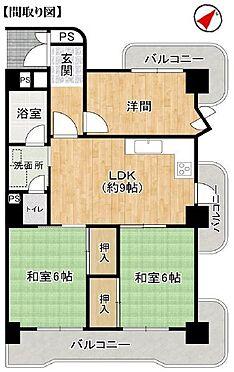 中古マンション-名古屋市千種区星ケ丘2丁目 最上階・角部屋。2面バルコニーで日当たり、風通しも良好です。