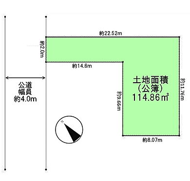 土地-武蔵野市吉祥寺本町3丁目 区画図