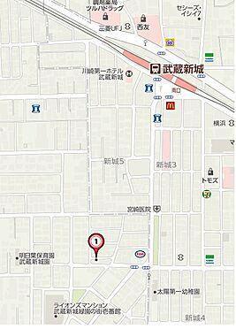 ビル(建物全部)-川崎市高津区千年新町 地図