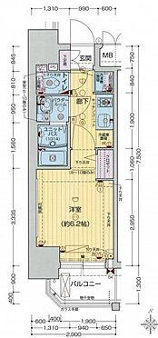 マンション(建物一部)-大阪市浪速区敷津西1丁目 間取り