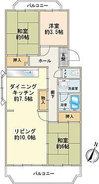 中古マンション-多摩市豊ヶ丘2丁目 3LDK(約75m2)角部屋タイプ
