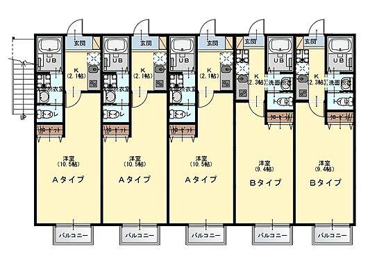 アパート-千葉市花見川区武石町2丁目 1階間取図