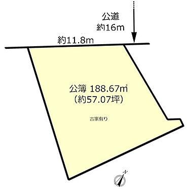土地-昭島市田中町1丁目 区画図