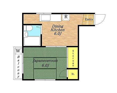 アパート-さいたま市南区内谷5丁目 1DK間取り図
