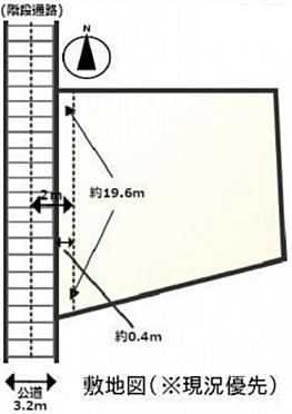 アパート-横浜市保土ケ谷区宮田町1丁目 敷地図