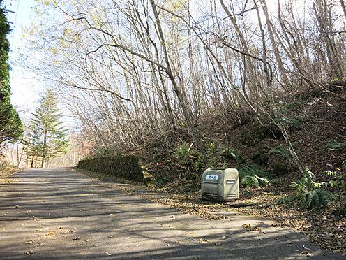 土地-北佐久郡軽井沢町大字長倉鶴溜 このあたりに駐車スペースを作るとご利用しやすそうです。