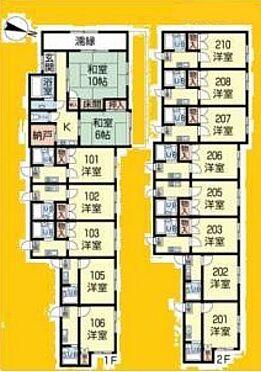 アパート-さいたま市南区大谷場2丁目 間取り図(A棟)