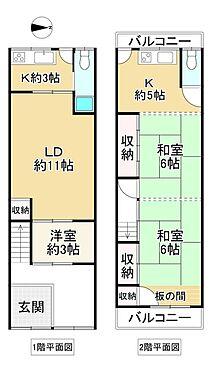 中古テラスハウス-大阪市生野区桃谷4丁目 間取り
