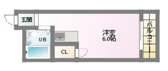 一棟マンション-大阪市東住吉区今川7丁目 1Kの間取図です。