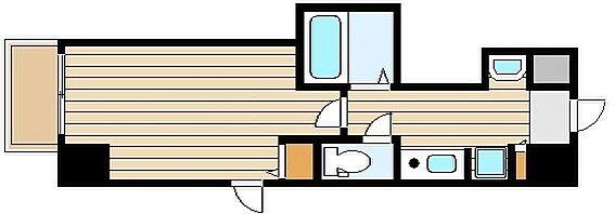 マンション(建物一部)-大阪市北区西天満6丁目 水まわりがまとめられた使い勝手の良い間取り