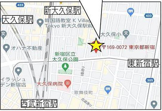 店舗・事務所・その他-新宿区大久保1丁目 地図