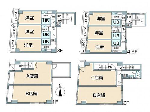 一棟マンション-横浜市神奈川区子安通1丁目 各階平面図