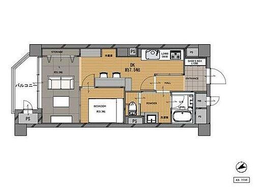 区分マンション-福岡市中央区平尾2丁目 2021年2月フルリノベーション済み。