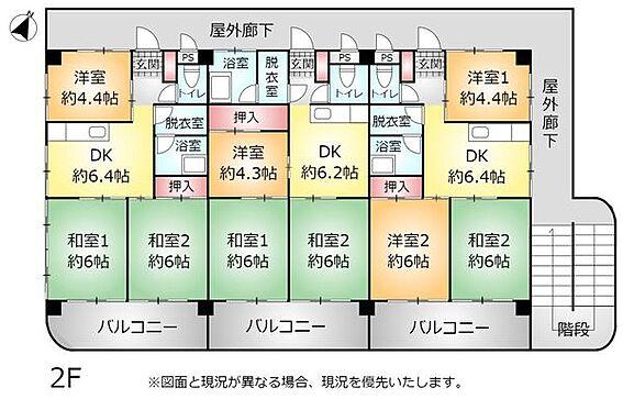 アパート-中頭郡読谷村字比謝 2F 間取り図