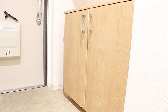 中古マンション-福岡市東区箱崎7丁目 玄関部分に吊り戸棚があり、収納力充実です。