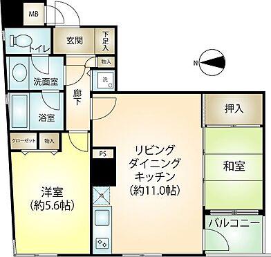 リゾートマンション-熱海市伊豆山 50.63平米の2LDK