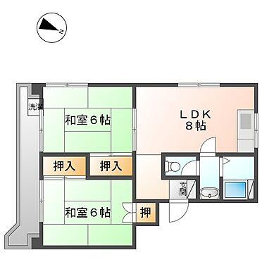 マンション(建物全部)-川崎市幸区下平間 201号室間取り