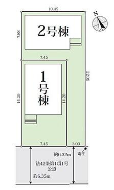 新築一戸建て-名古屋市南区戸部町3丁目 区画図