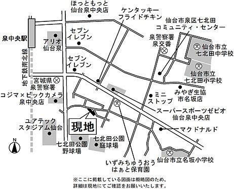 マンション(建物全部)-仙台市泉区泉中央4丁目 地図