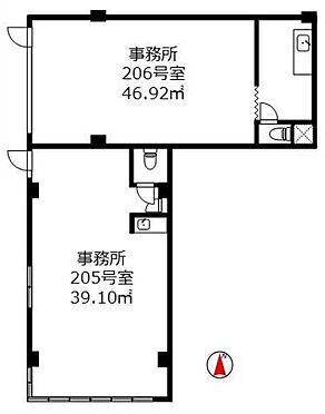 店舗事務所(建物一部)-江戸川区北小岩6丁目 間取り