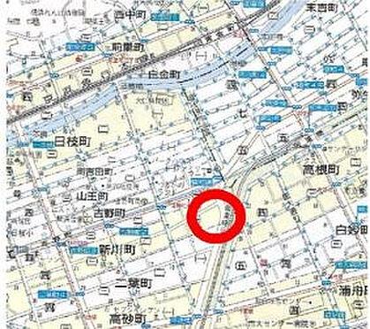事務所(建物一部)-横浜市南区新川町1丁目 地図