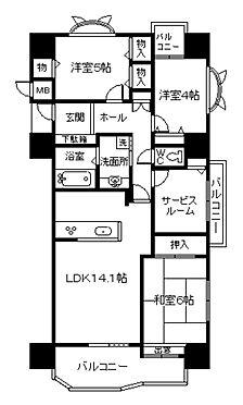 中古マンション-下関市細江町2丁目 間取り