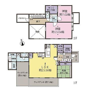 中古一戸建て-稲城市坂浜 南向きでリビングに吹き抜けがあり開放感のあるこだわりの家です