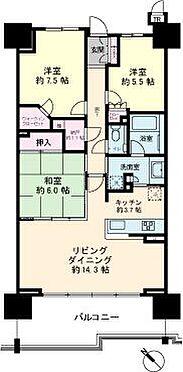 中古マンション-千葉市美浜区稲毛海岸5丁目 82.62m23LDK+N(納戸)+WIC(ウォークインクローゼット)