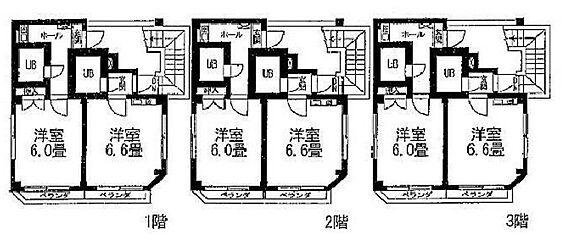 アパート-川崎市中原区新城中町 間取り