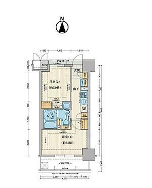 中古マンション-大阪市東成区中道2丁目 6階部分の南向きバルコニー