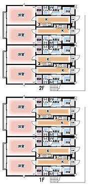 アパート-松戸市松戸新田 間取り図 B棟1K×8戸