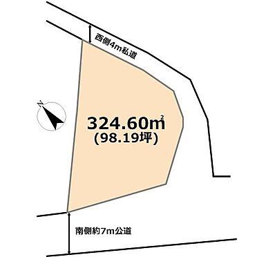 土地-東松山市若松町2丁目 区画図