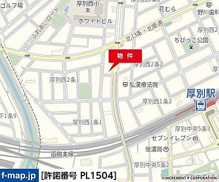 アパート-札幌市厚別区厚別西二条1丁目 地図