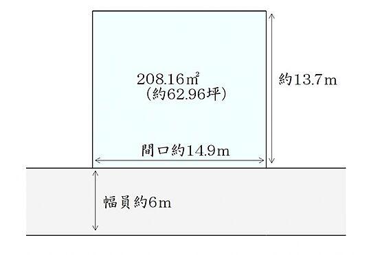 土地-仙台市泉区館3丁目 区画図