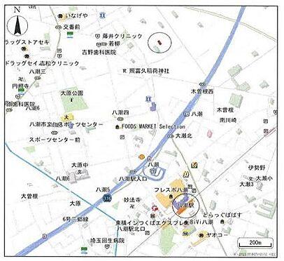 収益ビル-八潮市大字二丁目 地図