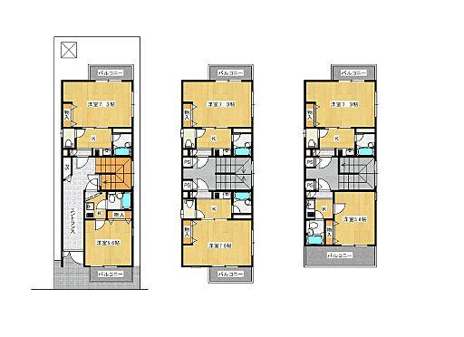 マンション(建物全部)-大阪市東住吉区西今川4丁目 建物全体間取図