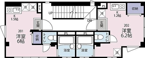アパート-世田谷区代田5丁目 2階 1Rタイプ 2戸 18平米 満室稼働中 (410.4万円/年収入)