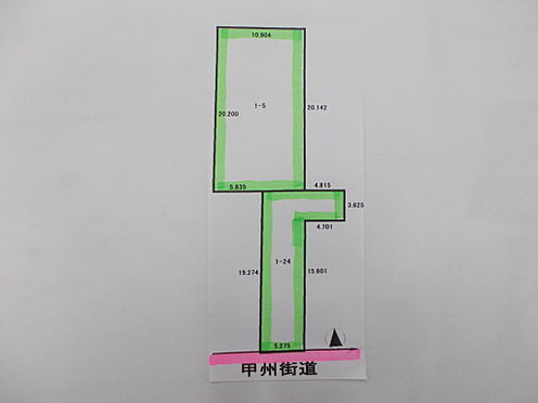 土地-八王子市八幡町 区画図