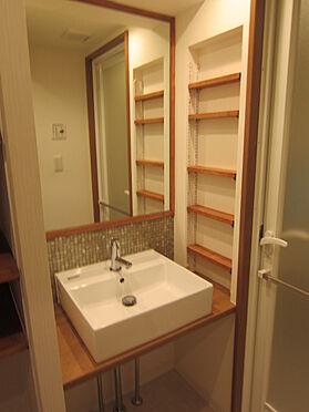 中古マンション-目黒区自由が丘2丁目 シンプルで使いやすい洗面化粧台です。(賃借人入居前撮影)