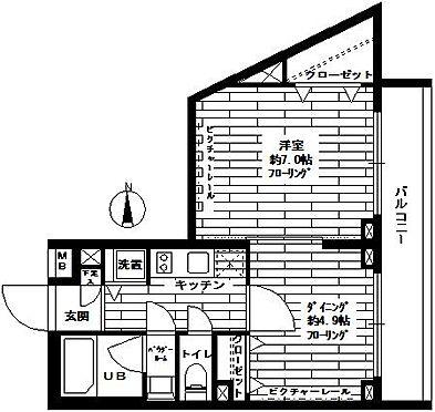 マンション(建物一部)-品川区西大井5丁目 間取り