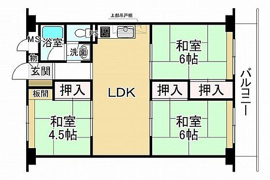 中古マンション-神戸市垂水区神陵台3丁目 間取り