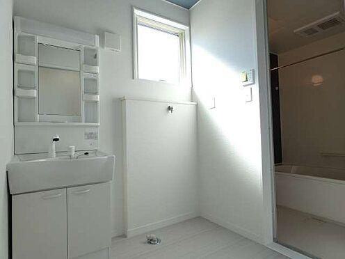 アパート-仙台市若林区上飯田2丁目 シャワー付洗面化粧台、洗濯機置き場