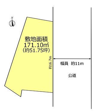 土地-立川市羽衣町2丁目 区画図